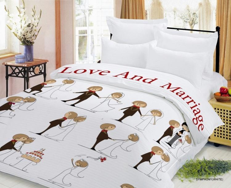 Posteljina 2-spavaća (standardna) Newtone gruba haljina Ljubav i brak