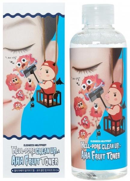 Peeling Toner Elizavecca Prašina za čišćenje AHA Fruit Toner
