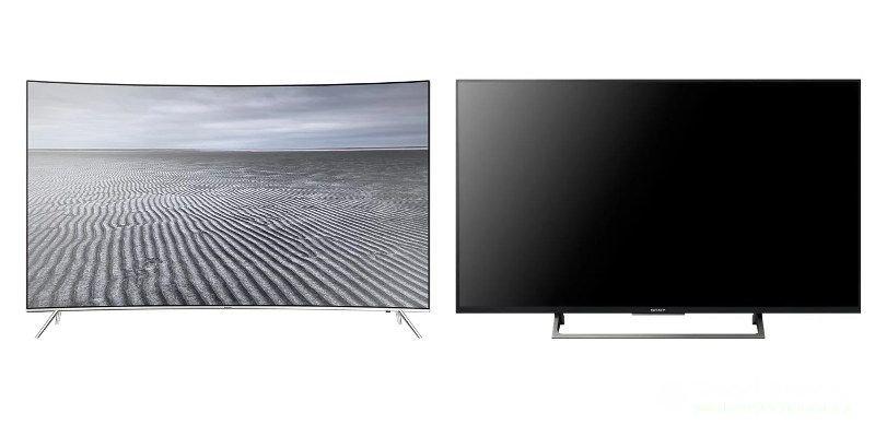 Jämförelse av böjda och plattskärms-TV